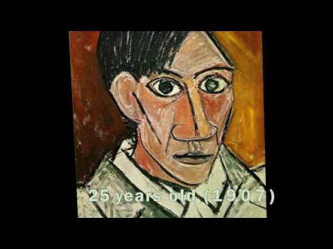Pablo Picasso's Self Portrait Evolution From Age 15 To Age 90