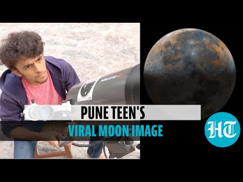 Watch: Pune boy creates photo of moon using 50,000 images, goes viral