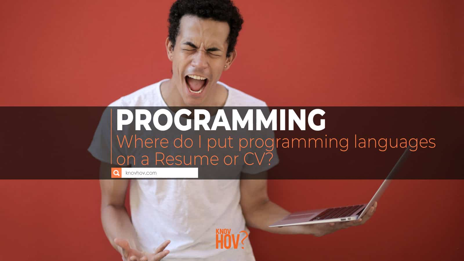 Where do I put programming languages on a resume or CV?