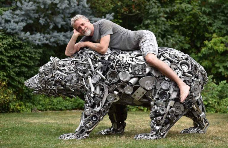Brian Mock's Magic of Turning Recycled Metal into Whole New Level Art