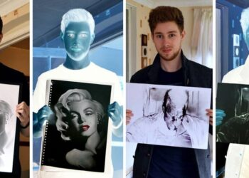 Negative Drawings by Liam York That Come to Live When Colors Are Inverted