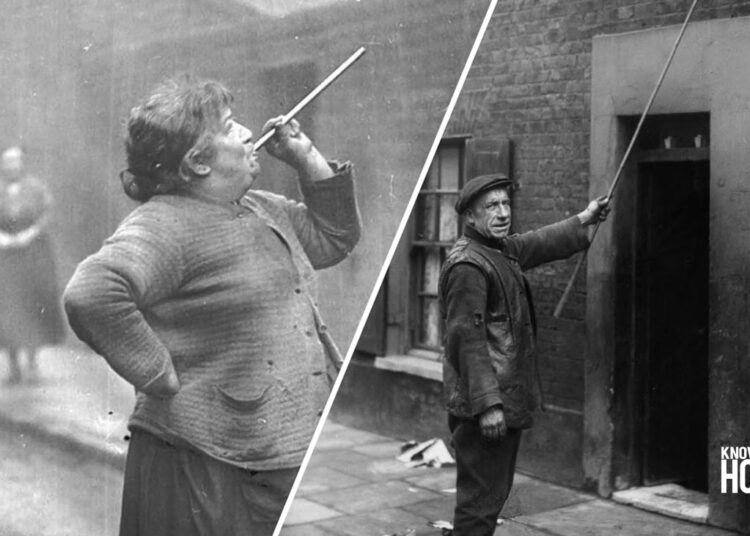 """Before Alarm Clocks, There Were """"Knocker Uppers"""" to Wake up the People in Industrial Britain"""