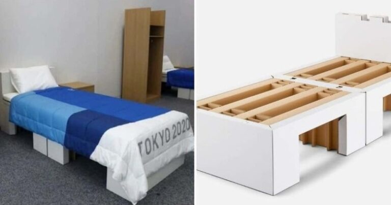 Eco-friendly Cardboard Beds at the Olympics went viral, drawing attention to the fact that they are designed to be 'anti-sex'