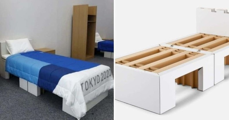 The Eco-friendly Cardboard Beds at the Olympics went viral, drawing attention to the fact that they are designed to be 'anti-sex'
